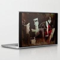 noir Laptop & iPad Skins featuring noir by michael lombardi