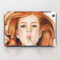 ginger iPad Cases featuring Ginger by Sugar Doll