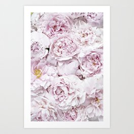 BED OF FLOWERS - PEONY PINK Art Print