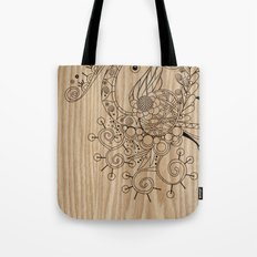Tangle on wood Tote Bag