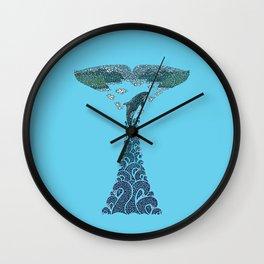 Glacier Bay II Wall Clock
