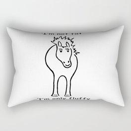 Chubby Horse Rectangular Pillow