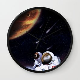 SpacePurrsuits Wall Clock