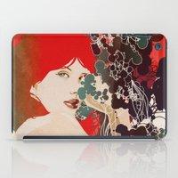 black widow iPad Cases featuring Black Widow by Beruna Girl