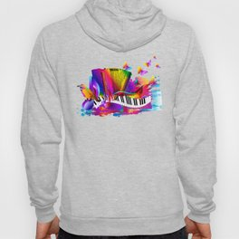 Colorful music instruments , accordion design Hoody
