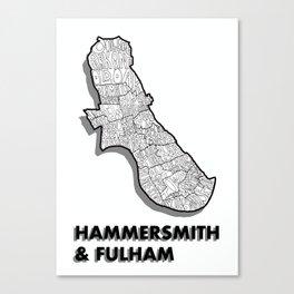 Hammersmith & Fulham - London Borough - Simple Canvas Print
