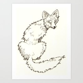 Hungry Coyote Art Print