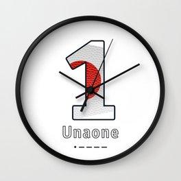 Unaone - Navy Code Wall Clock