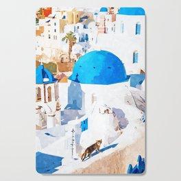 Greek Goddess #painting #illustration #cats Cutting Board