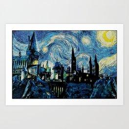 Magic Castle Starry Night Art Print