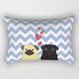 Chevron Pug Rectangular Pillow