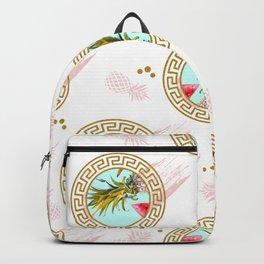 Aztec Fruit Pattern Backpack
