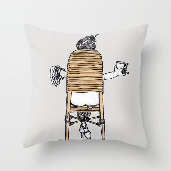 a lady's portrait Throw Pillow