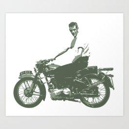 Dad on a Bike Art Print