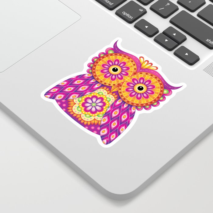 Owl Mandala Sticker