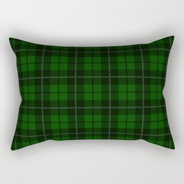 Forest Green Plaid Rectangular Pillow