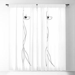 Runa the Squiggle Creature Blackout Curtain