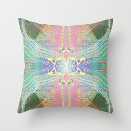Electric Dragonfly / Bass Angel Throw Pillow