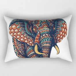 Ornate Elephant v2 (Color Version) Rectangular Pillow