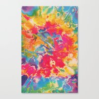 tie dye Canvas Prints featuring Tie Dye by The Dope Scope