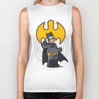 simpsons Biker Tanks featuring bat-homer: the Simpsons superheroes by logoloco