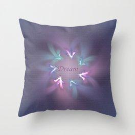 Circle Ribbon Dream Throw Pillow