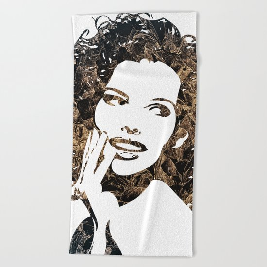 Provocative Face Beach Towel