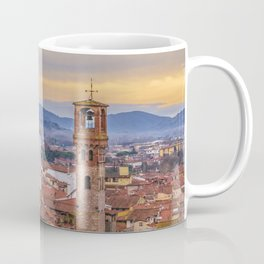 Aerial View Historic Center of Lucca, Italy Coffee Mug