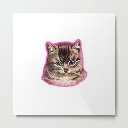 Staring Awesome Cat Face Metal Print