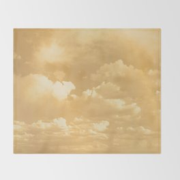 Clouds in a Golden Sky Throw Blanket