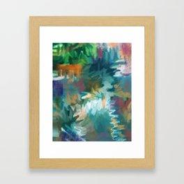 FEEL THE BUZZ: Aqua Framed Art Print