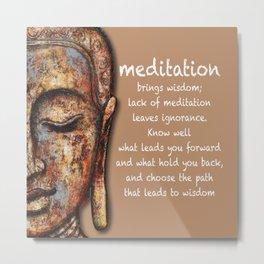 Meditation Brings Wisdom Metal Print