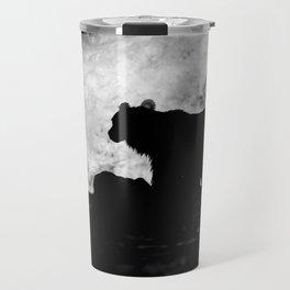 Grizzly Bear Silhouette Travel Mug