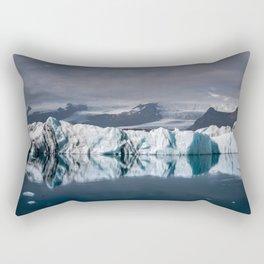 Dramatic Icelandic Iceberg Reflection Rectangular Pillow