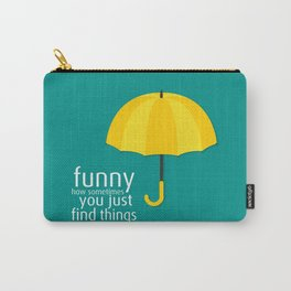 Yellow Umbrella Carry-All Pouch