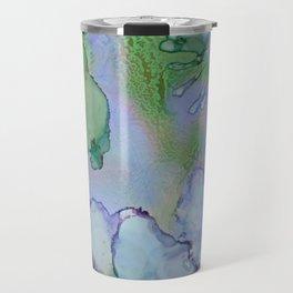 Abstract Blue Birds Travel Mug