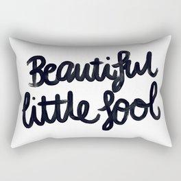 Beautiful little fool - hand script Rectangular Pillow
