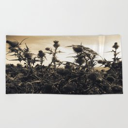Thistles Beach Towel