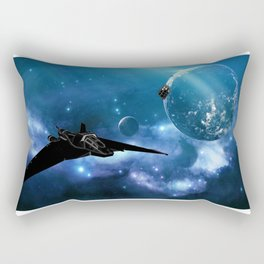 Ships in Space Rectangular Pillow