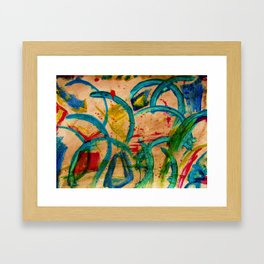 """Blue-Mystery"" Framed Art Print"