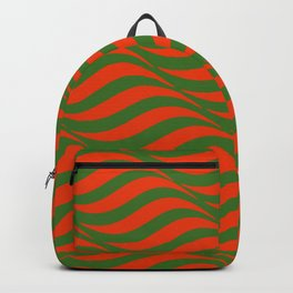Red and Green Waves Backpack