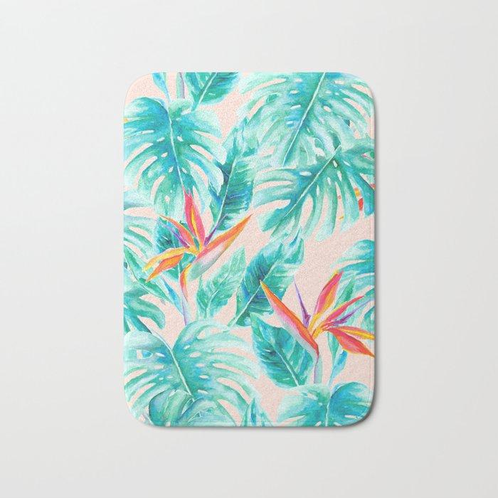 Tropical Paradise Pale Peach Bath Mat