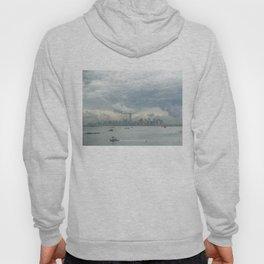 Cloudy New York Harbor Hoody