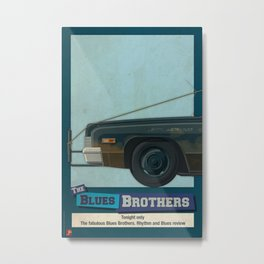 The Blues Brothers Bluesmobile 1/3 Metal Print