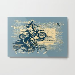 Dirt Track - Motocross Racing Metal Print