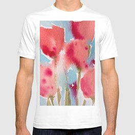 Tulips in watercolor T-shirt