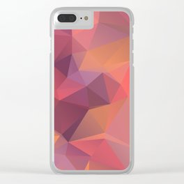 Bright polygonal triangle abstract design Clear iPhone Case