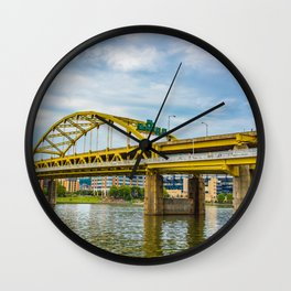 Yellow Bridge Wall Clock