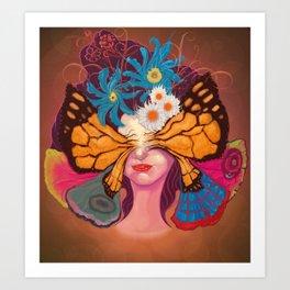 Madame Papiyon Art Print