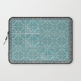 Victorian Turquoise Ceramic Tiles Laptop Sleeve